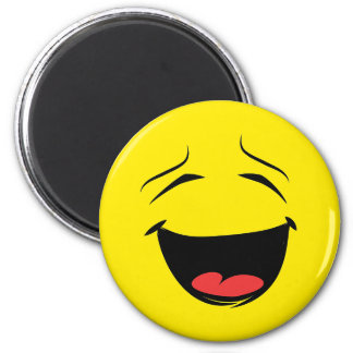 Laughing Smiley Face Locker or Regrigerator Magnet