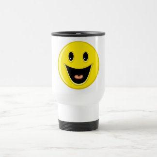 Laughing Smiley Face Travel Mug