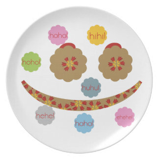 laughing smiley Plate