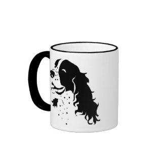 Laughing Spaniel Ringer Mug