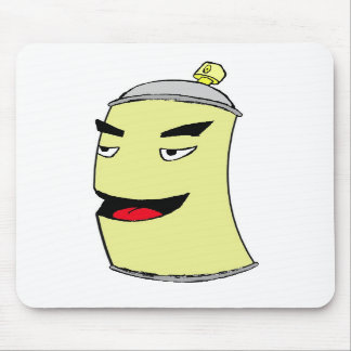 Laughing Spray Can Mouse Pad
