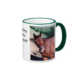 Laughing Standardbred Horse Mug