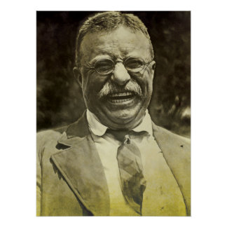 Laughing Theodore Roosevelt Poster