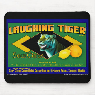 Laughing Tiger Citrus mouse pad