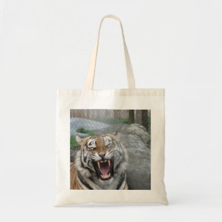 Laughing tiger tote bag