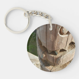 Laughing Totem Face Keychain