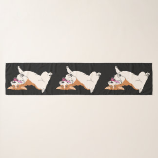 Laughing up side down Welsh Corgi Scarf