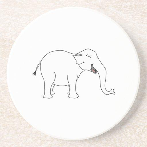 Laughing White Elephant. Beverage Coasters