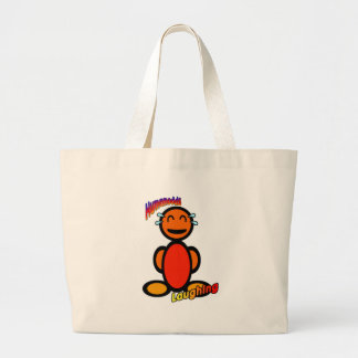 Laughing with logos canvas bags