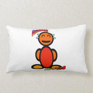Laughing (with logos) lumbar pillow
