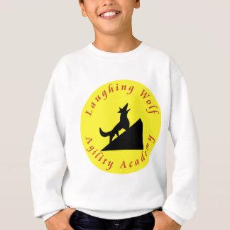 laughing wolf in moon sweatshirt