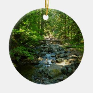 Laughingwater Creek at Mount Rainier National Park Ceramic Ornament