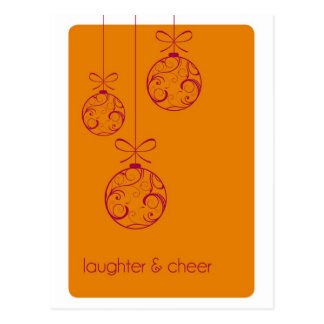 Laughter and Cheer Holiday Postcard