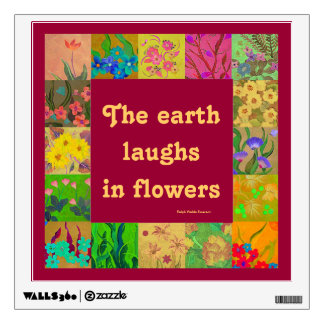 laughter and flowers wall decal