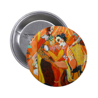 Laughter - Clown Painting Pinback Button