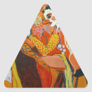 Laughter - Clown Painting Triangle Sticker