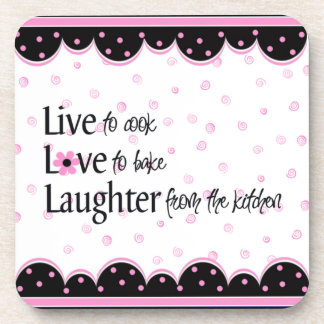 Laughter from the kitchen Coasters