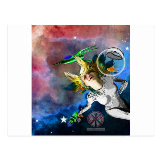 Laughter in space postcard