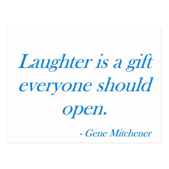 Laughter is a gift ... postcard
