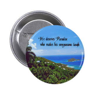 Laughter is the best medicine 2 inch round button