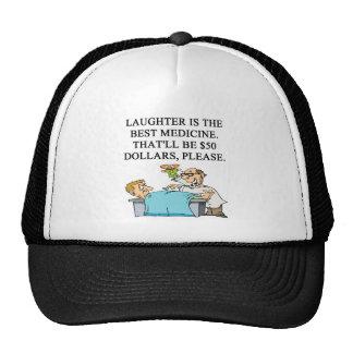 laughter is the best medicine trucker hat