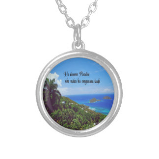 Laughter is the best medicine round pendant necklace