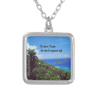 Laughter is the best medicine square pendant necklace