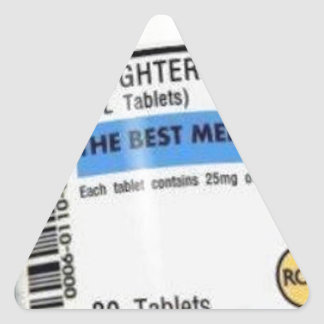 Laughter is the Best Medicine Triangle Sticker