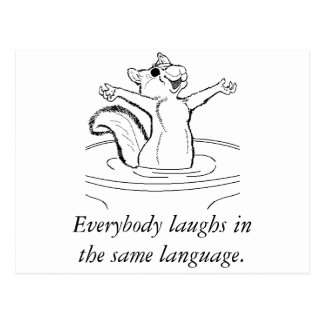 Laughter is Universal Postcard