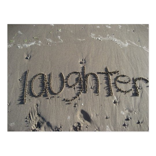 laughter postcard
