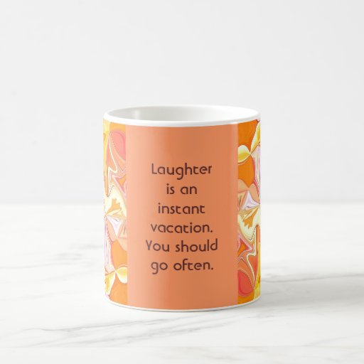 laughter vacation classic white coffee mug