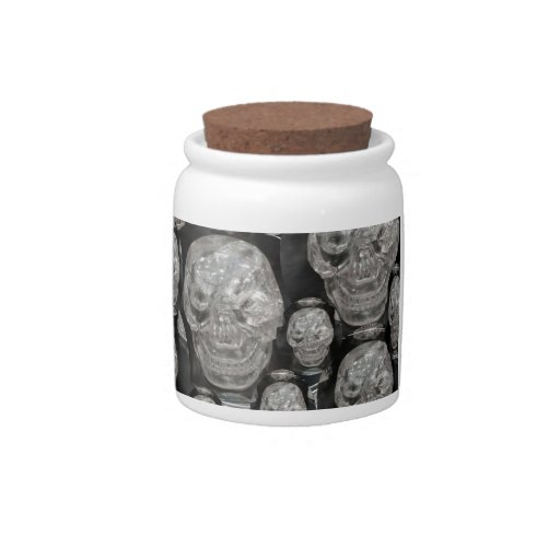 Laughting Friendly GHOST Skull Scull Candy Jar