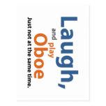 Laugn y juego Oboe Tarjetas Postales
