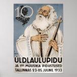 Laulupidu, poster 1933 de Vanamuine
