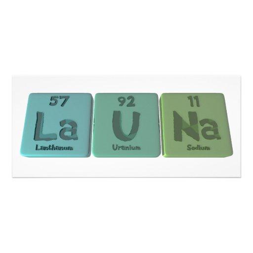 Launa as Lanthanum Uranium Sodium Custom Rack Cards