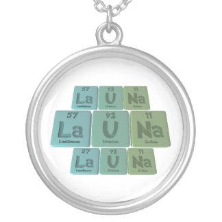 Launa as Lanthanum Uranium Sodium Round Pendant Necklace