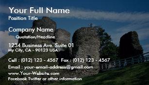 Riviera business cards templates zazzle launceston castle business card reheart Choice Image
