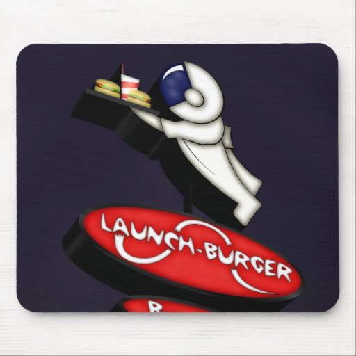 Launch Burger Googie Sign Mouse Pad
