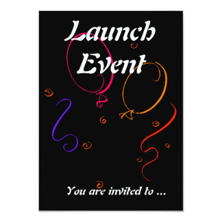 Launch event party card