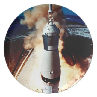 Launch of a Rocket 2 Dinner Plate