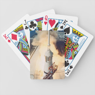 Launch of a Rocket Bicycle Playing Cards