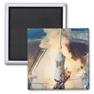 Launch of a Rocket Refrigerator Magnets