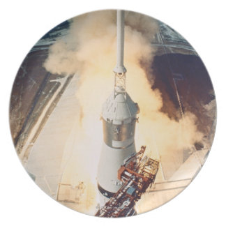 Launch of a Rocket Melamine Plate