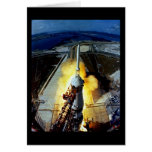 Launch of First Men to the Moon - Apollo 11 Greeting Card