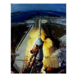 Launch of First Men to the Moon - Apollo 11 Print