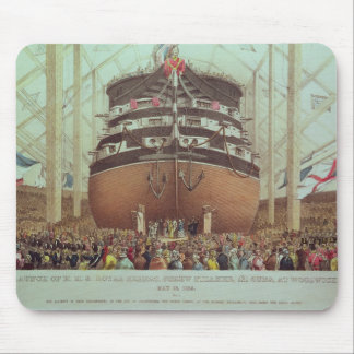 Launch of H.M.S. Royal Albert, Screw Steamer Mouse Pad
