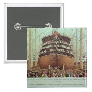 Launch of H.M.S. Royal Albert, Screw Steamer Pinback Button