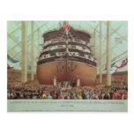 Launch of H.M.S. Royal Albert, Screw Steamer Postcards