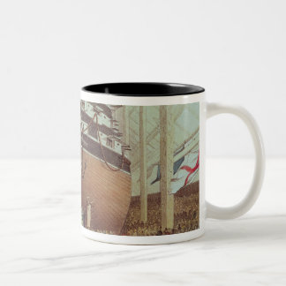 Launch of H.M.S. Royal Albert, Screw Steamer Two-Tone Coffee Mug