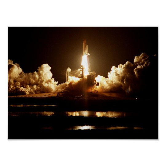 Launch of Space Shuttle Atlantis (STS-101) Poster
